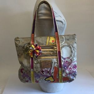 Coach Poppy Seed Tote Bag